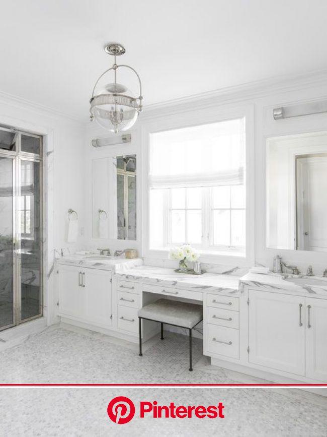 White master bathroom, Master bedroom bathroom, Master bathroom design