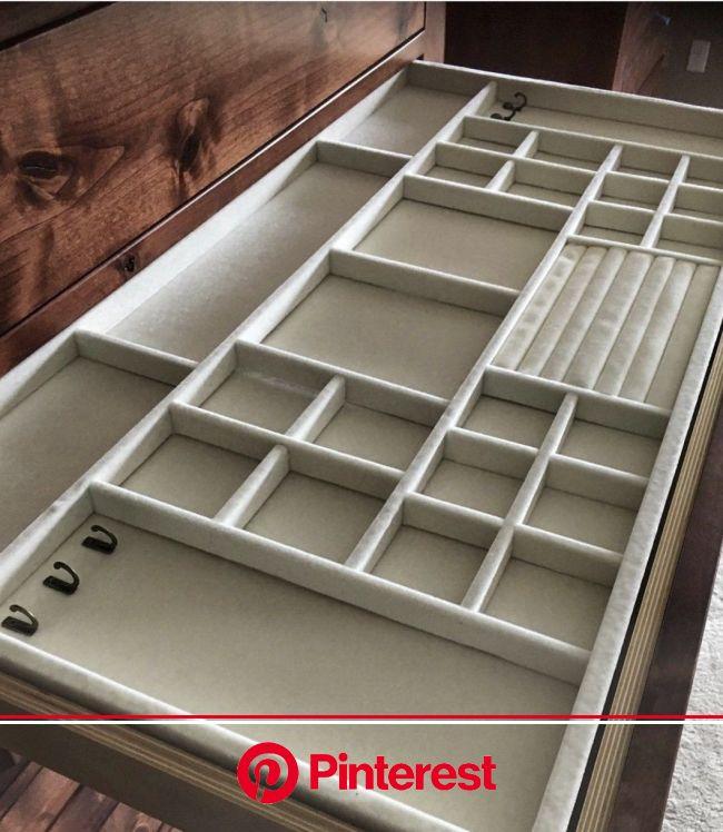 custom velvet jewelry drawer inserts for custom closets. Velvet Jewelry drawer inserts.   Jewelry drawer, Jewelry organizer drawer, Bedroom furniture