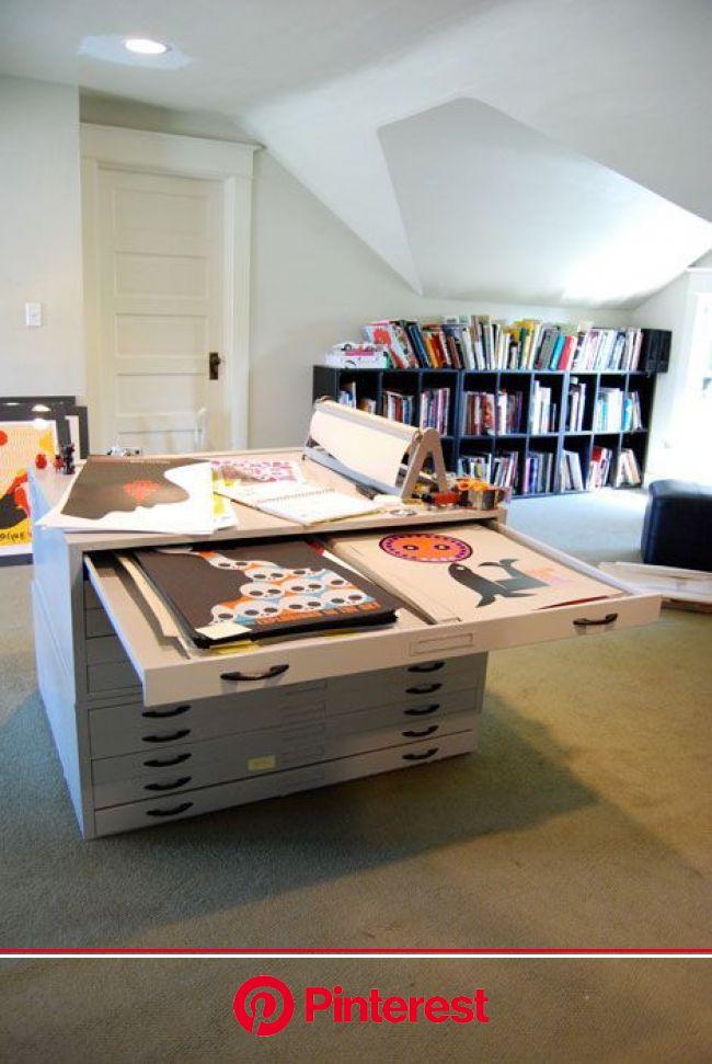 Espaços para as artes.  http://www.mundogump.com.br/incriveis-espacos-de-trabalho-para-artistas/   Estúdios de arte em casa, Home, Projeto estúdio de