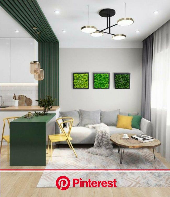 Moss Wall Art - Modern Home Decor - Green Moss - Moss Panels - Green Wall Art - Moss Art in 2021 | Small house interior design, Small apartment interi