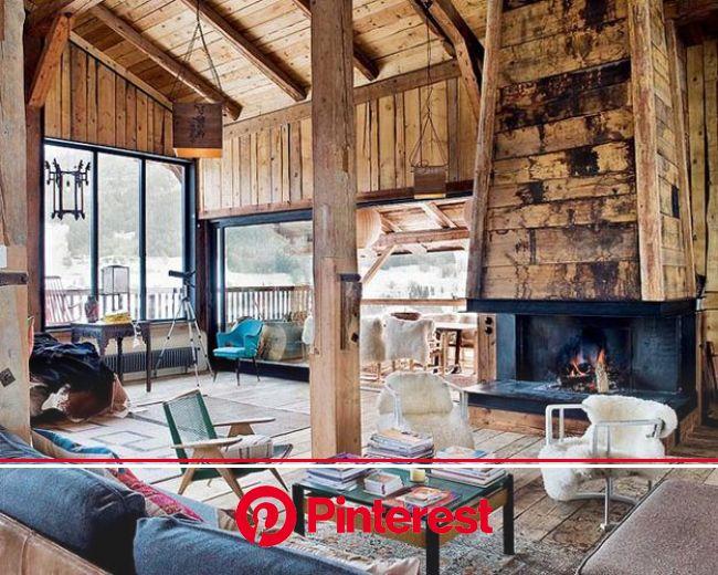 31 Dream Houses In The Woods | Barn house design, Chalet living room, Living room decor rustic