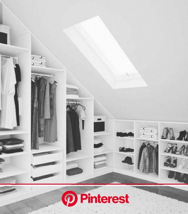 ▷ 1001 Ideen für Ankleidezimmer Möbel, die Ihre Wohnung verzaubern werden   Ankleide zimmer, Kleiderschrank für dachschräge, Dachschräge einrichten