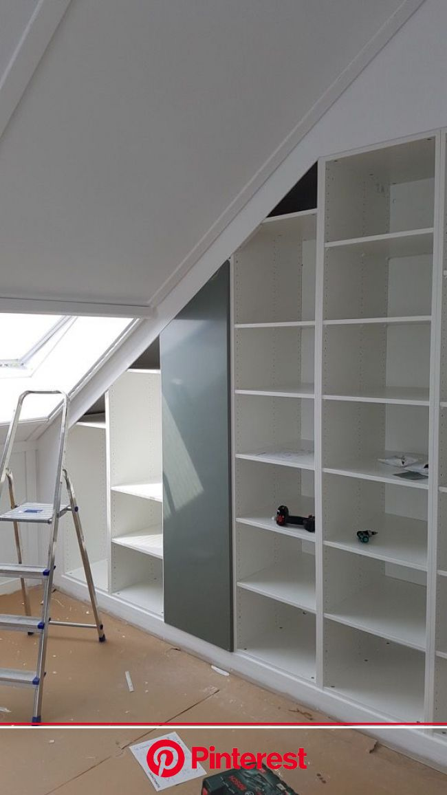 Gorgeous built-in closet under sloped ceiling - IKEA Hackers   Sloped ceiling bedroom, Build a closet, Attic bedroom storage