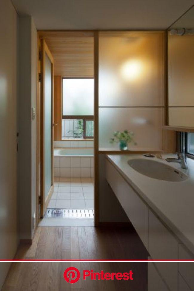 洗面、浴室も居心地良く・・・1 | 本間至/ブライシュティフト diary | アパートのデザイン, 小さな家のインテリア, 浴室 造作