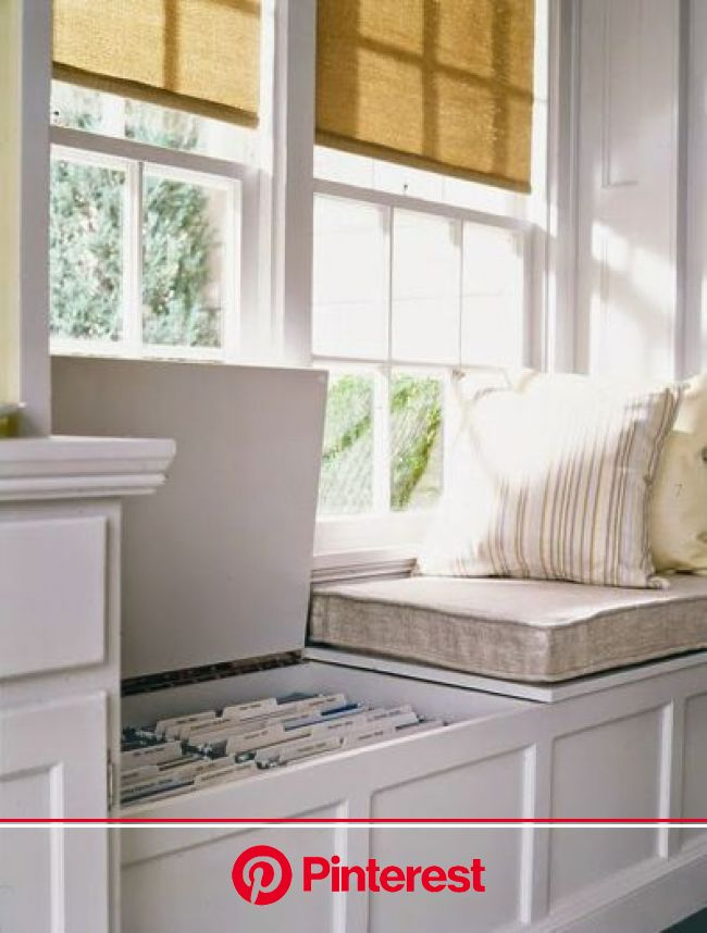 9 Home Decorating Tips for Small Apartments, Homes, Spaces   Decorated Life   Dining room office, Home, Window seat storage