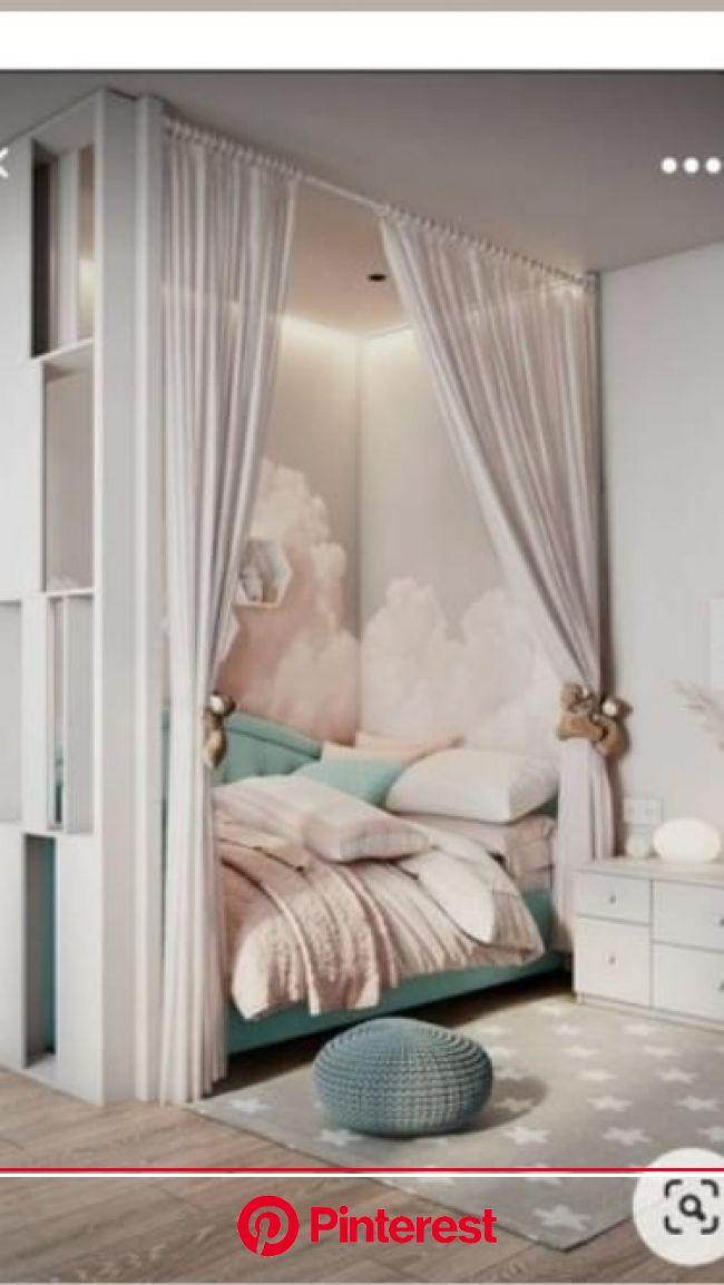 quarto de menina com nuvens | Pinterest