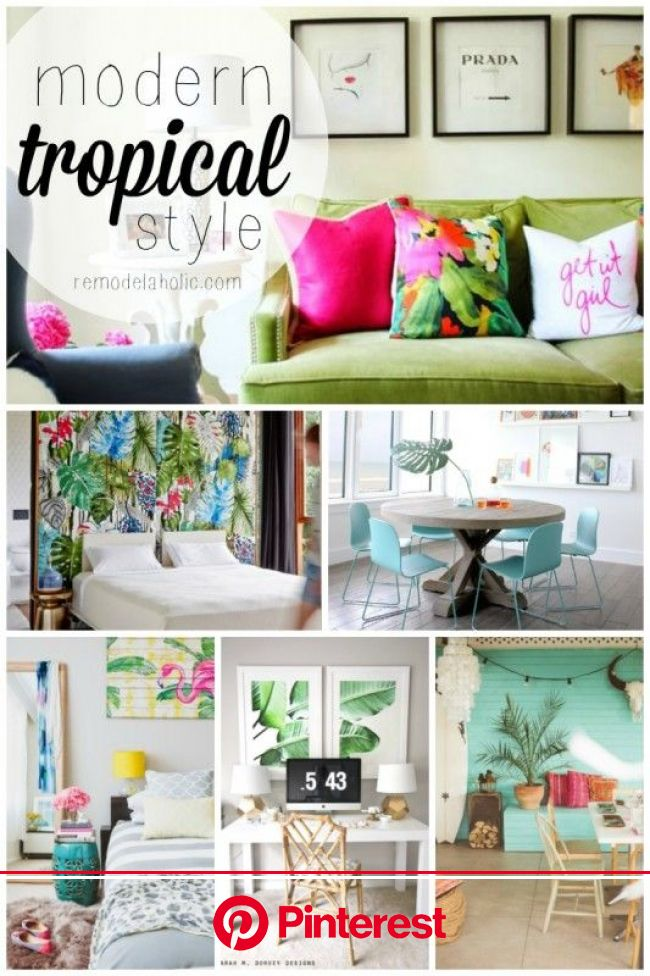 Inspiration File: Modern Tropical Style (Remodelaholic) | Tropical home decor, Beach house interior, Tropical style