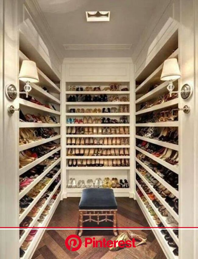 The huge #shoes #closet. That's insane <3 Only for #shopping addicted :) | Closet designs, Home, Dream closets