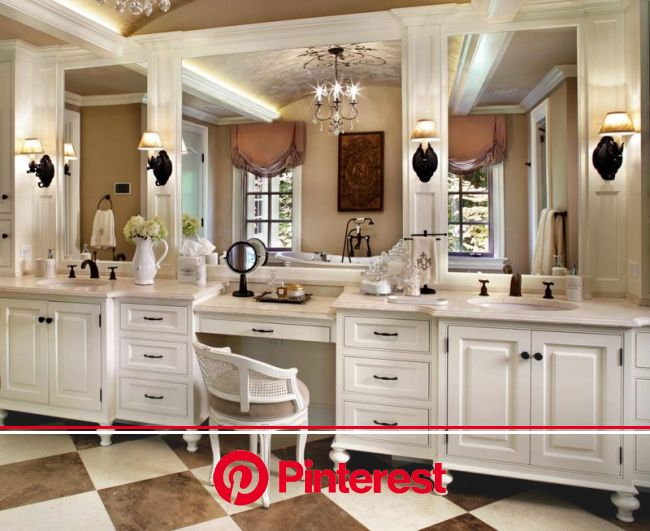 25 Chic Makeup Vanities from Top Designers   French style bathroom, French bathroom, Wooden bathroom vanity
