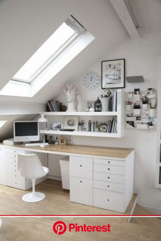 wall storage keeps the desk   http://desklayoutideas.blogspot.com   Home office design, Tiny office space ideas, Tiny office