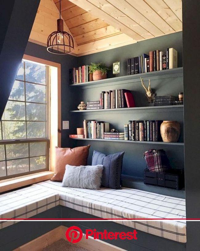 12 Best Attic Bookshelves Design Ideas   Home library design, House design, House interior