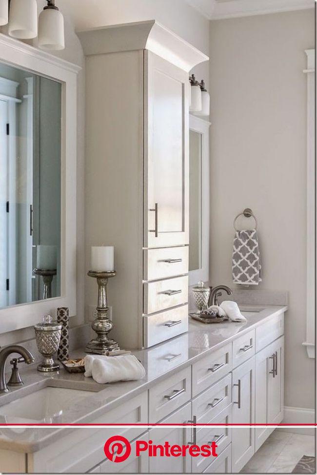 25 Amazing Double Bathroom Vanities You Need To Try - Interior God | Master bathroom renovation, Small master bathroom, Bathroom remodel master