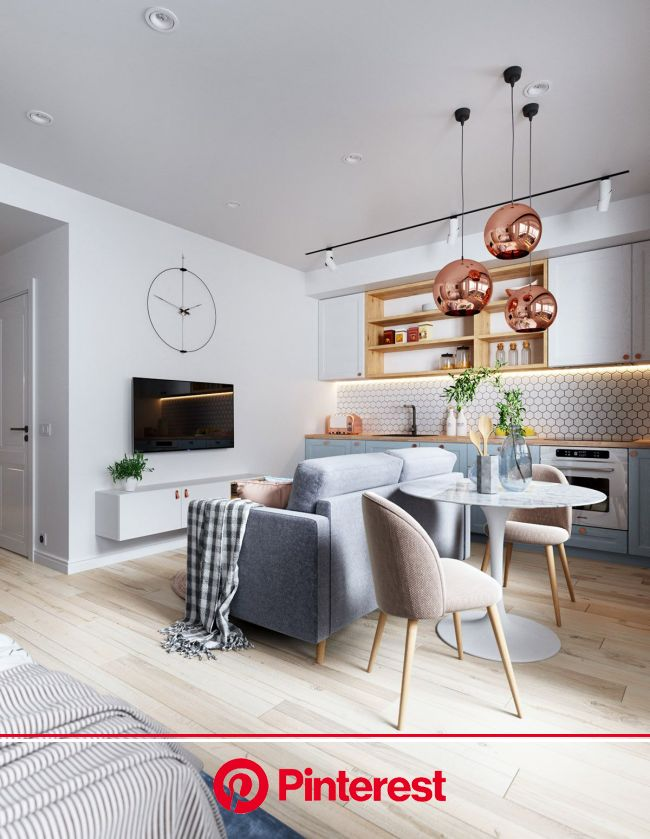 3 Small But Super Stylish Apartments   Small apartment interior, Small apartment living, Small apartment living room