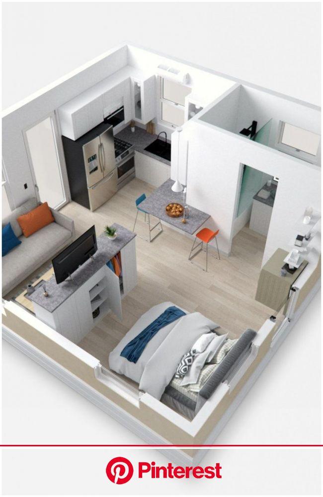 Studio Unit Interior Design Small Apartments   Small apartment plans, Studio apartment floor plans, Small house design plans