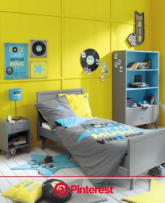 Une déco en jaune et gris dans la chambre des ados | My Blog Deco en 2021 | Chambre ado fille, Chambre ado, Chambre ado fille jaune