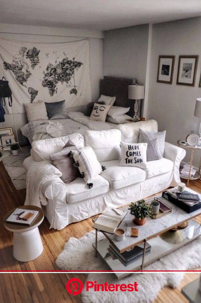 Pin by Moda Misfit   Apartment Stylin on chieverhot   Studio apartment living, Small apartment room, Apartment room