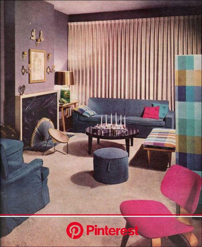 Mid Century Modern Original Interiors Lavender Living Rooms 1950s Living Room Home Decor Bedroom Painless Life