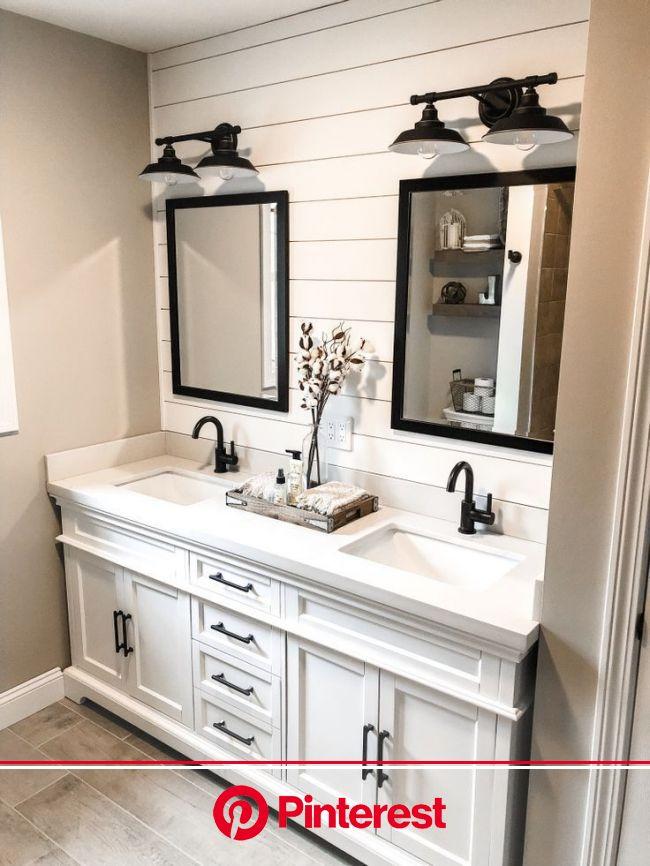 Modern Farmhouse Bathroom Remodel in 2021   Modern farmhouse bathroom, Bathroom remodel master, Bathroom interior