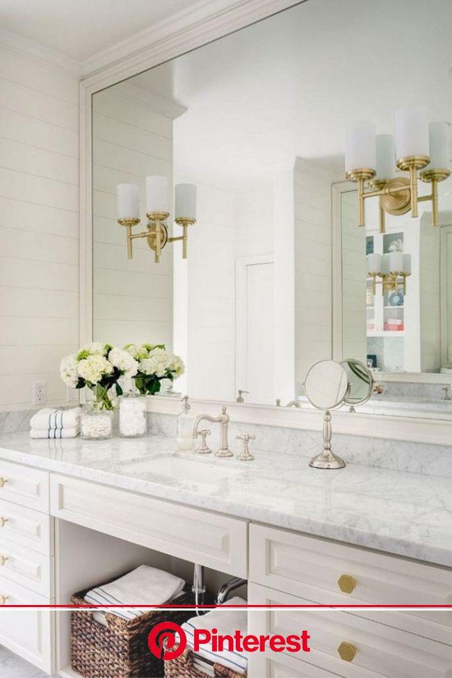35 Stunning Gold and White Bathroom Remodel Design - Decor Renewal   Bathroom remodel master, Bathrooms remodel, Bathroom interior design