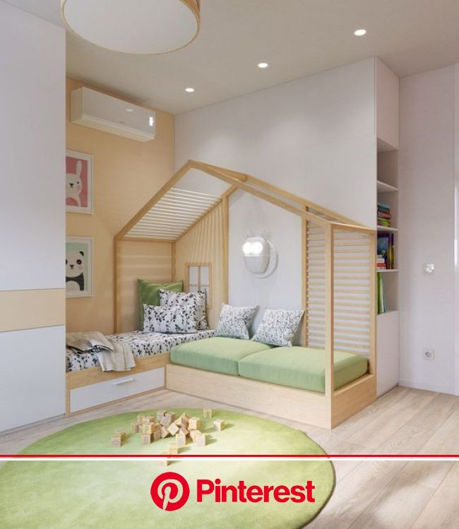 Pastel Accents Over Expansive Light Wood In Two Modern Homes | Bedroom design, Kid room decor, Kids room design