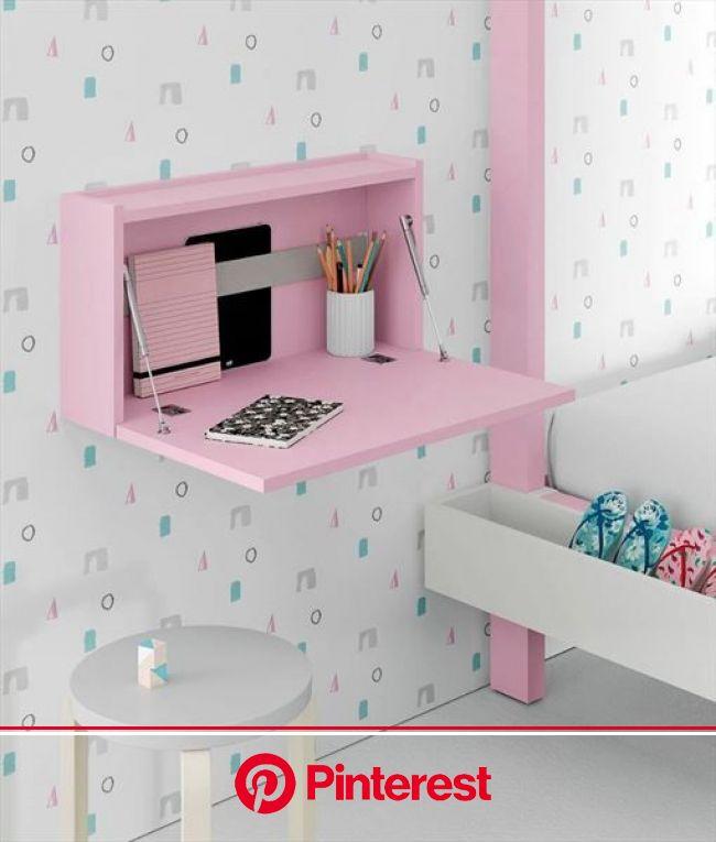 Escritorio pequeño abatible adaptable a espacios pequeños | Diseños de cuartos pequeños, Decoracion de cuartos pequeños, Decoración de escritorio
