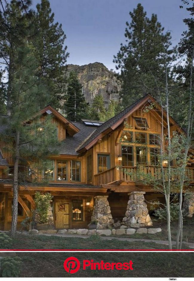 Here's What Guys Are Pinning On Pinterest (37 Photos) - Suburban Men | Log homes, Log cabin homes, Rustic house