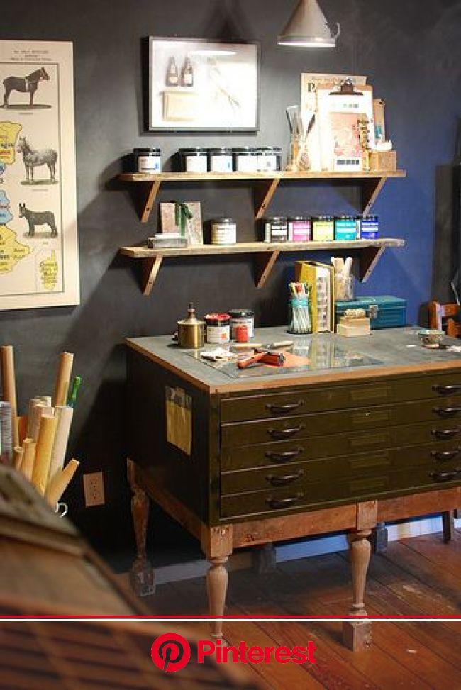 Untitled   Art studio at home, Flat files, Workspace studio