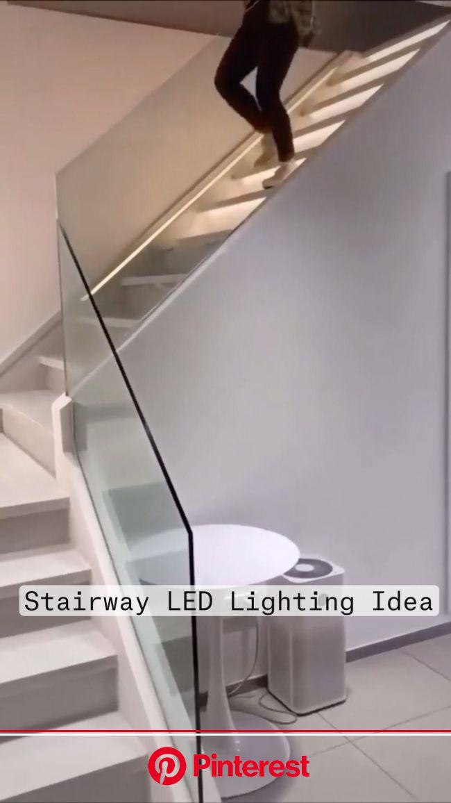 Stairway LED Lighting Idea - Modern Lighting Design  | Pinterest