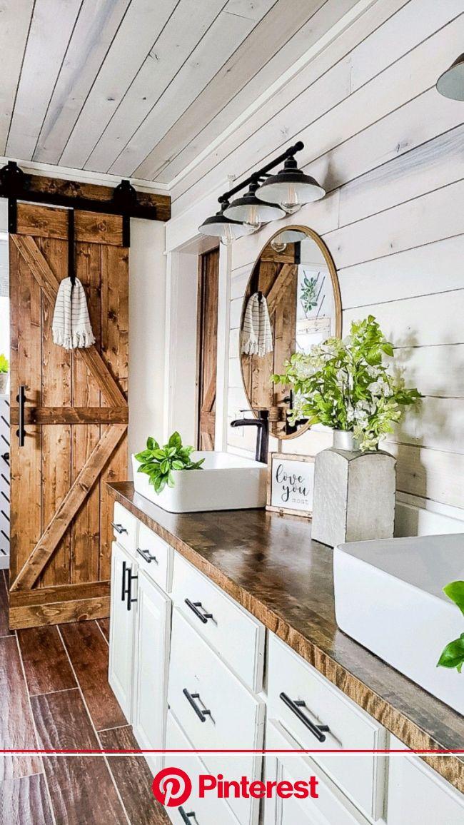 Farmhouse Bathroom | Pinterest