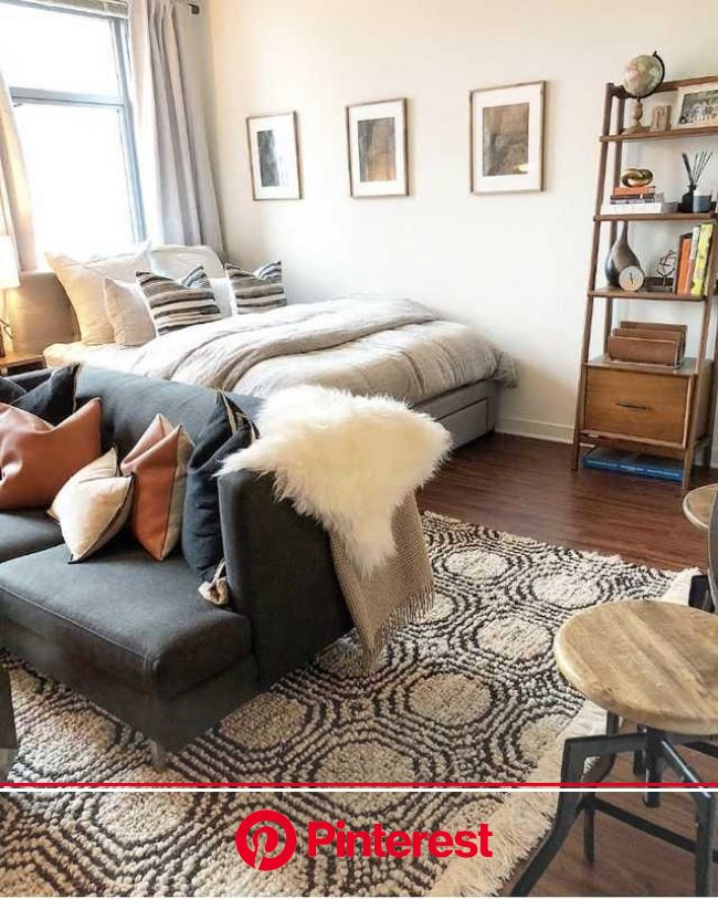 Before/After: Decorating my Chicago studio   Studio apartment living, Studio apartment decorating, Apartment decor