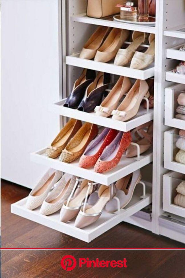 Como organizar sapatos: veja 9 formas de organizar os calçados na sua casa! | Organizar sapatos, Design de closet, Armazenamento de armário
