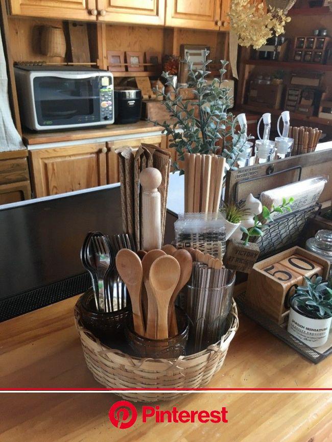 【DIY】5分で出来る!簡単カトラリー収納♪   小さなキッチンの整理, インテリア 収納, キッチンインテリアデザイン
